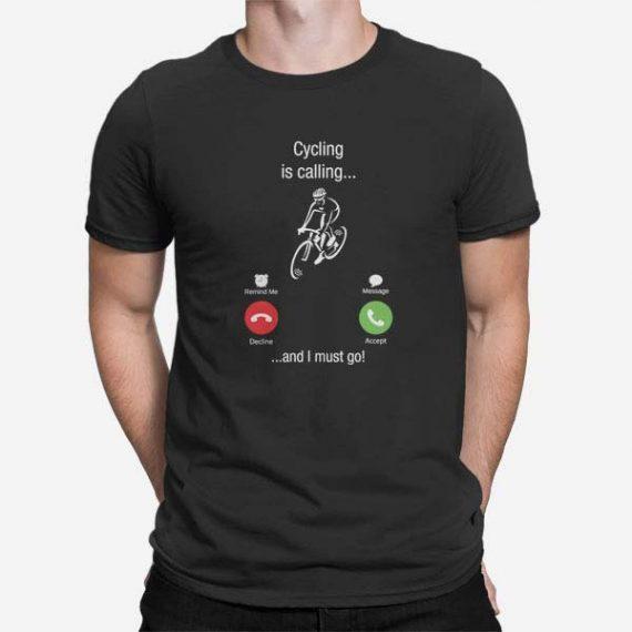 Moška majica kratek rokav Kolesarjenje kliče