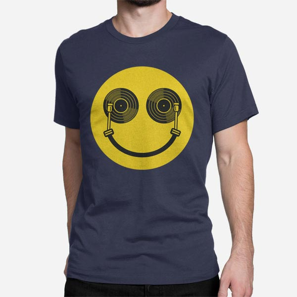 Moška kratka majica Didžej nasmeh