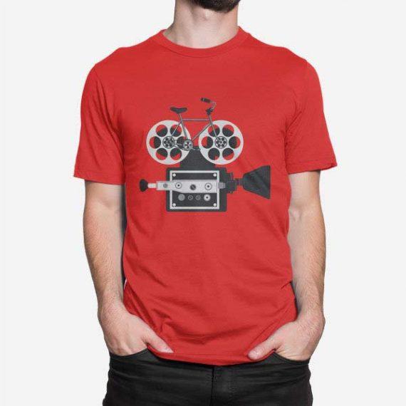 Moška majica kratek rokav Kolesarska kamera