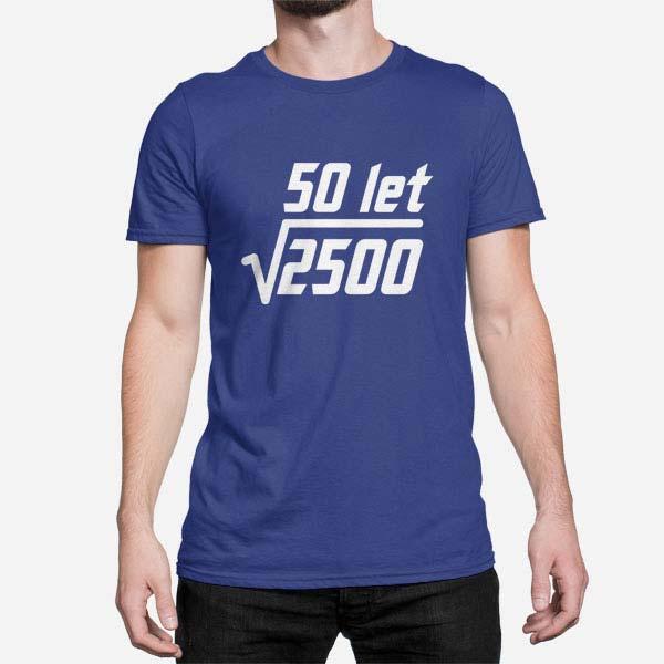 Moška majica Kvadratni koren za 50 rojstni dan