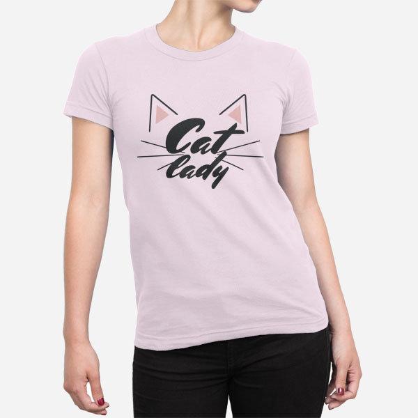 Ženska majica kratek rokav Mačja dama