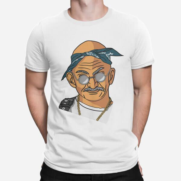 Moška majica Tupac Gandhi