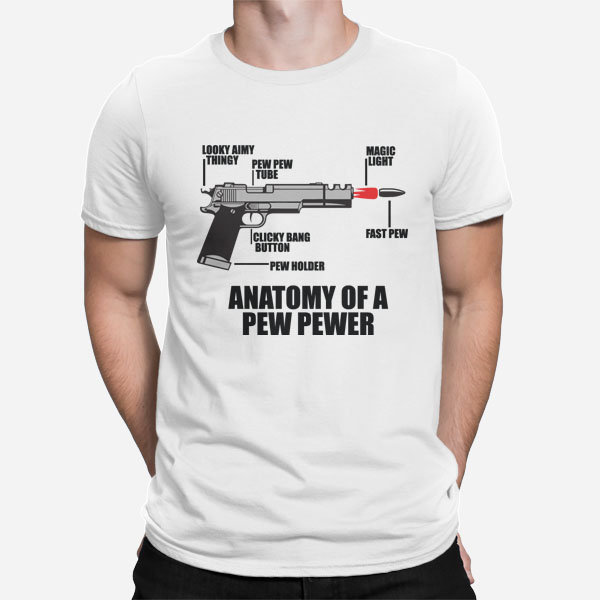 Moška majica Anatomija pištole