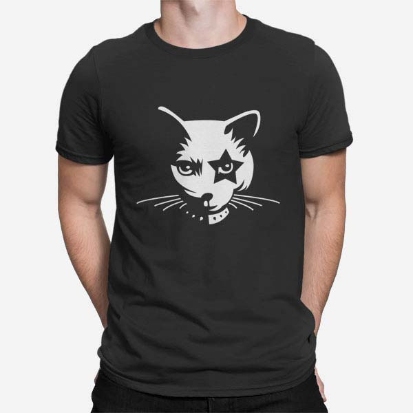 Moška majica Heavy metal mačka