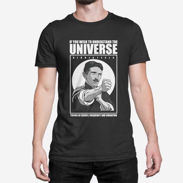 Moška majica kratek rokav Nikola Tesla Man
