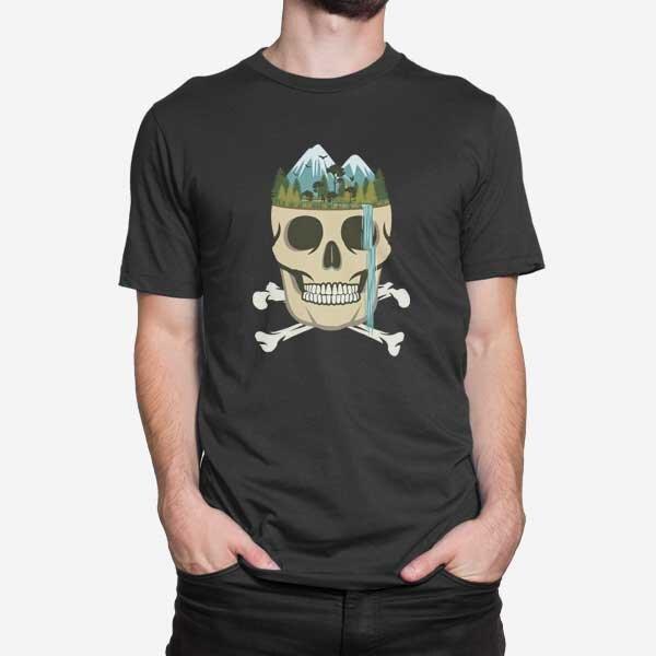 Moška kratka majica Lobanjski slap