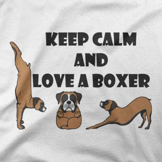 Majica Calm and Love a Boxer