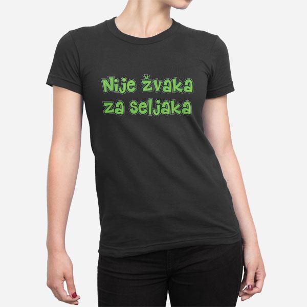 Ženska majica Nije žvaka za seljaka