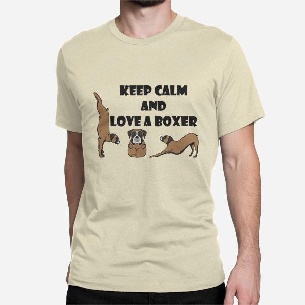 Moška majica Keep Calm and Love a Boxer