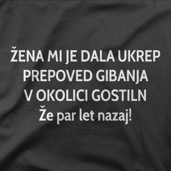 Majica Prepove gibanja