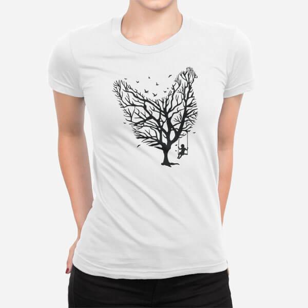 Ženska majica kratek rokav Piščančje drevo