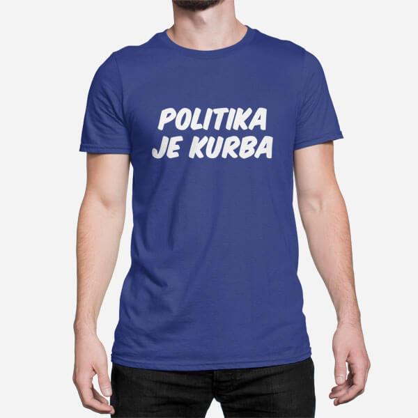 Moška majica Politika je kurba