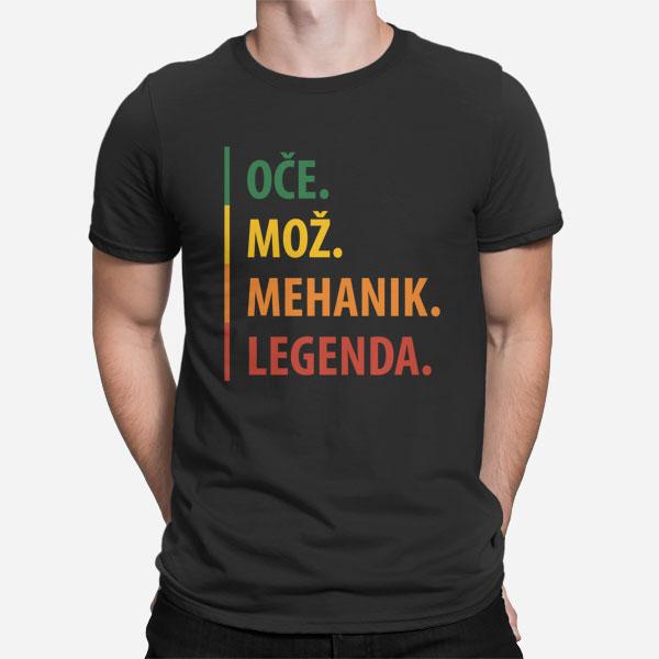 Moška majica Oče Mož Mehanik Legenda