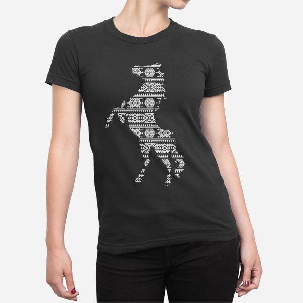 Ženska majica Vzorec konj