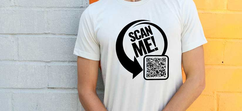 QR koda na majici