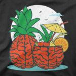 Motiv na majici Možganski ananas