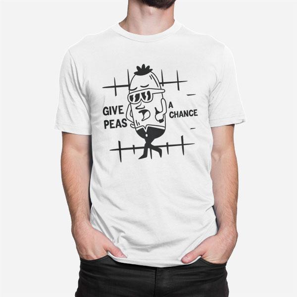 Moška majica kratek rokav Give peas a chance