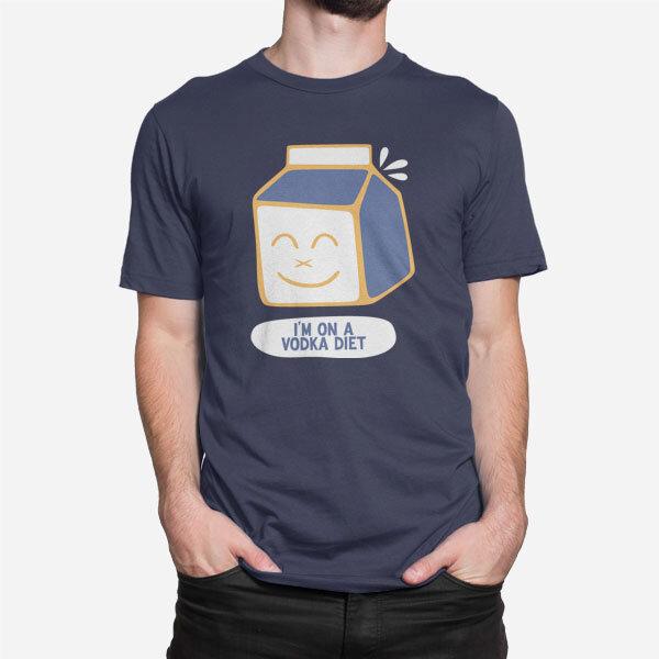 Moška majica kratek rokav  Sem na dieti z vodko
