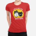 Ženska majica Življenje z mačko