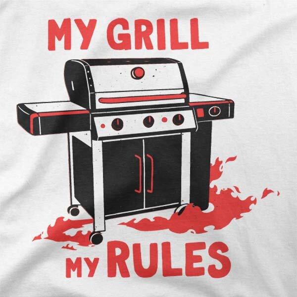 Motiv na majici Grill pravila