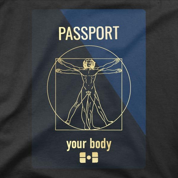 Motiv na majici Potni čip