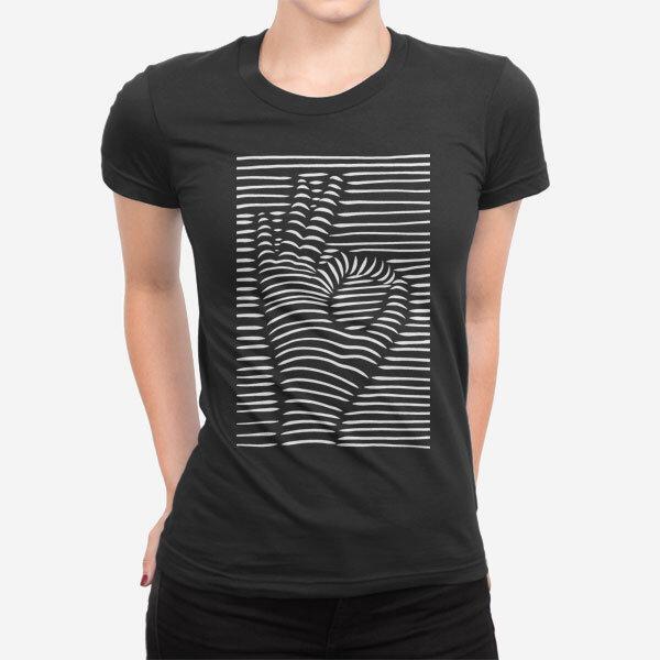 Ženska kratka majica Znak za OK