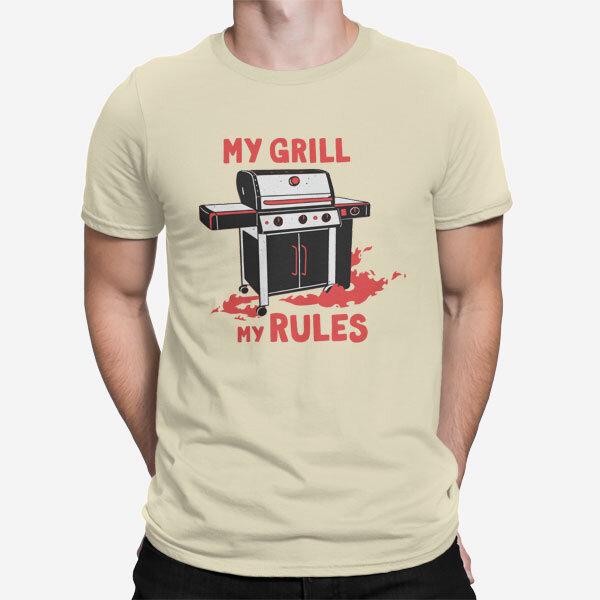 Moška kratka majica Grill pravila