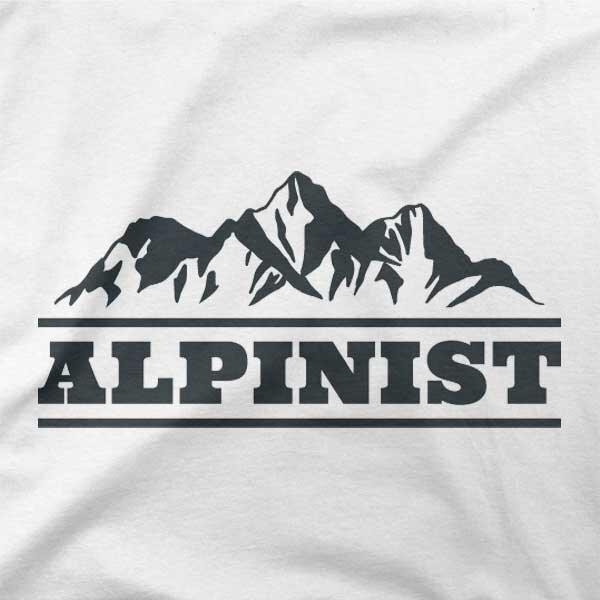 Motiv na majici Alpinist