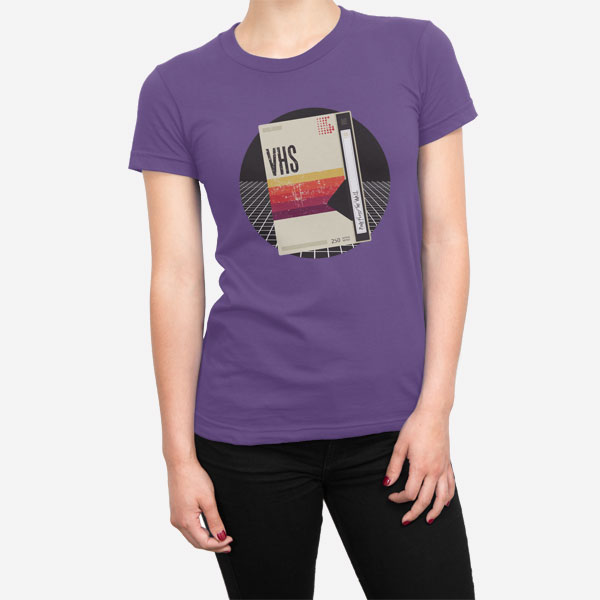 Ženska kratka majica Retro VHS kaseta