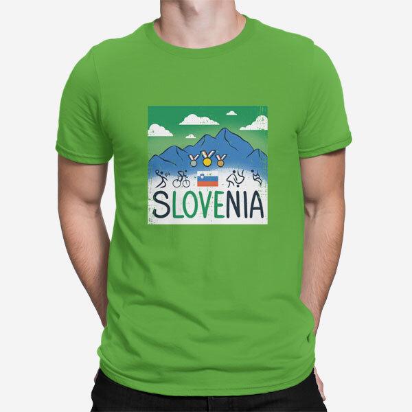 Zelena moška kratka navijaška majica