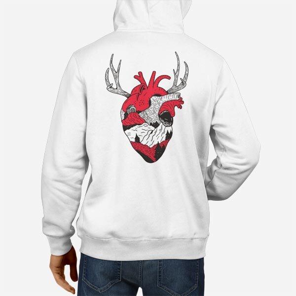 Moški pulover s kapuco Gozdno srce