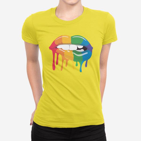 Ženska kratka majica Mavrične ustnice