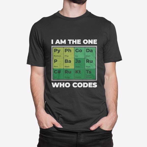 Črna moška kratka majica Programer