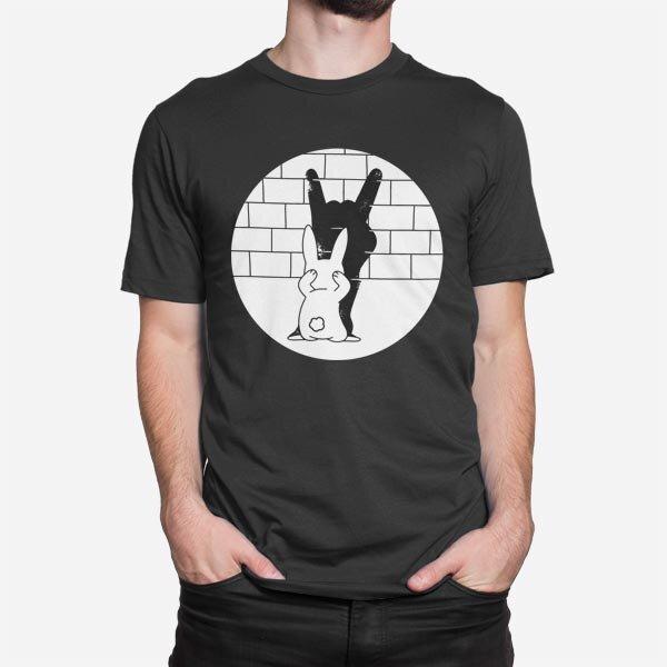 Črna moška kratka majica Senca zajca