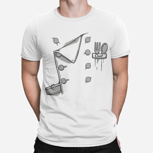 Bela moška kratka majica Master Chef