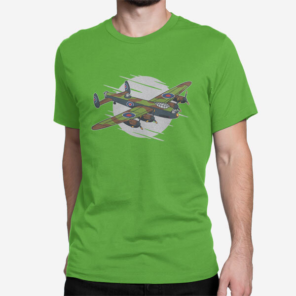 Moška kratka majica Lancaster bombnik