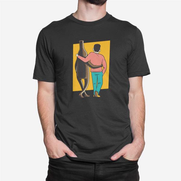 Moška majica kratek rokav Jaz in pivo sva super par