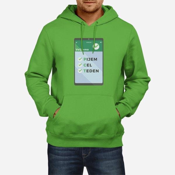 Moški pulover s kapuco PCT potrdilo