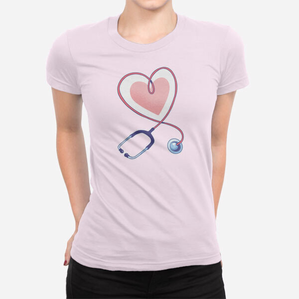 Ženska kratka majica Stetoskop srce