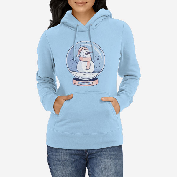 Ženski pulover s kapuco Snežna krogla