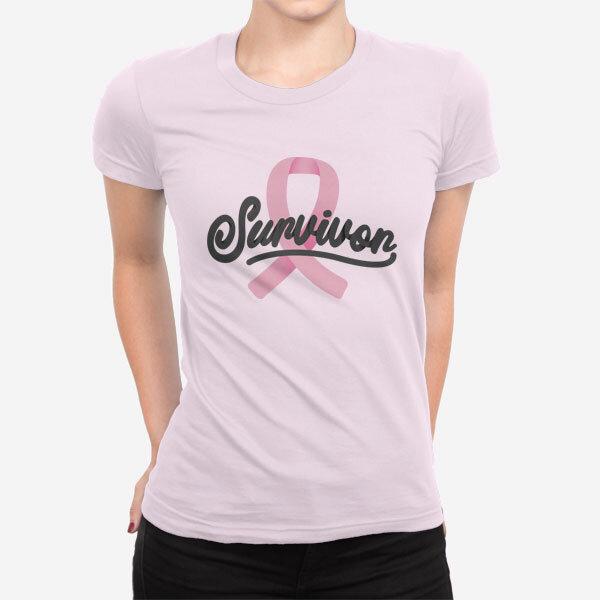 Ženska kratka majica Preživela sem raka